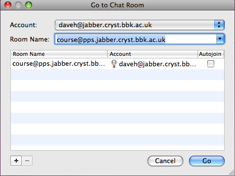 Ichat Jabber Chat Room